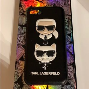 Karl Lagerfeld + Choupette IPhone 8/7/6 Case